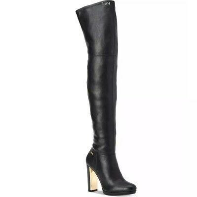 c15e4077974 Calvin Klein Pammie Women s black leather Over The Knee tall boots sz. 5(35