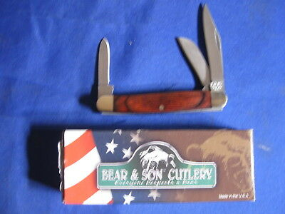Bear and Son Rosewood Midsize Stockman Knife USA