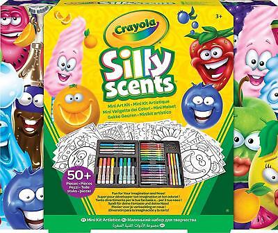 Crayola Silly Scents Mini Art Case Washable Crayons Markers Art 52 pack Gift Set