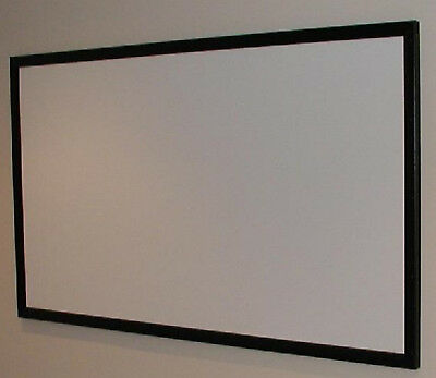 "125"" Diagonal Matte White Projection Projector Screen Material 16:9 Ultra HD USA"
