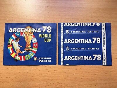 Panini World Cup Argentina 1978 Sealed MINT Packet Tute Bustina 78 WC - RARE