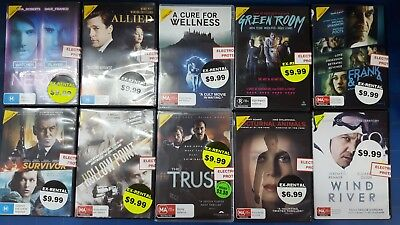 Quality Ex-Rental Used DVD's Assorted Thriller Titles