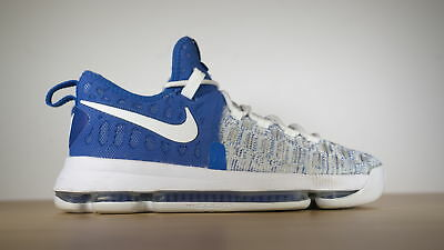 4eabfb39cb9 Nike KD 9 Home II in Blue and White Men s Fashion Sneakers Size 7.5 843392-