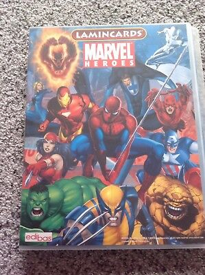 MARVEL HEROES Lamincards EDIBAS 2008 Complete Set with Album 162 cards Excellent