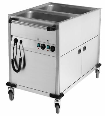 Bain Marie Wagon, 650x900x900 mm, with Base Unit, Water Bath Food Warmer