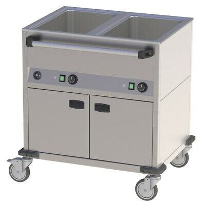 Bain Marie Wagon, 850x700x900 mm, Heated Base Unit, Water Bath Speisenwärme