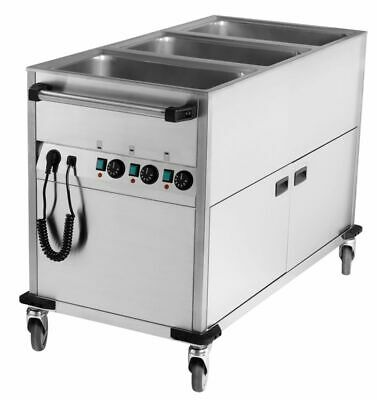 Bain Marie Wagon 650x1300x900 mm Heated Base Unit, Water Bath Food Warmer