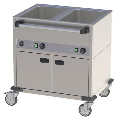 Bain Marie Wagon, 850x700x900 mm, with Base Unit, Water Bath Food Warmer