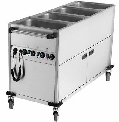 Bain Marie Wagon, 650x1700x900 mm, with Base Unit, Water Bath Food Warmer