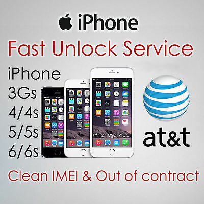 NETWORK UNLOCK CODE for AT&T ATT USA iPhone 4S 5 5S 5C SE 6 6+ 6S+ 7 7+ 8+ Plus