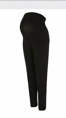 Maternity black over bump tapered work smart trousers size 10 leg 29inch George