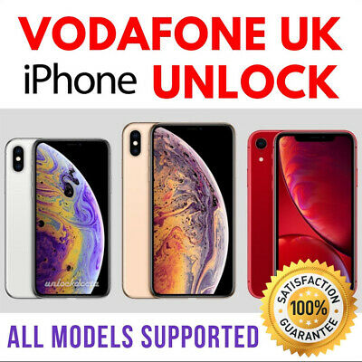 VODAFONE UK UNLOCK CODE SERVICE for iPhone XS XR XS Max X 8 7 6 - NEED IMEI ONLY