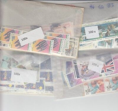 Australia postage stamps with gum face value $200  (2 stamp combo to make $1)xj