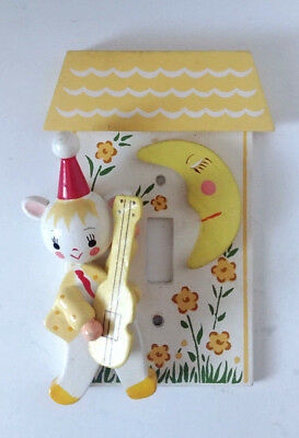 Vintage Nursery Room Switch Plate Cat And Fiddle Over Moon Wood Irmi