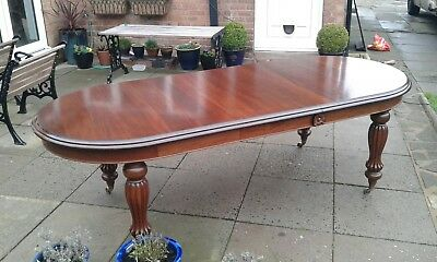 VICTORIAN Dining  EXTENDING MAHOGANY   WIND OUT D END DINING TABLE
