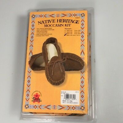 Moccasin Leather Kit Adult Size 10/11 DIY Scout craft Tandy Leather Factory kit