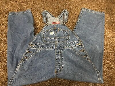 059bf63a8c9 Union Bay Womens Vintage Denim Jean Bib Overalls Small Light Wash 34 X 28
