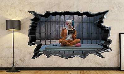 Harley Quinn Suicide Squad 3D Cracked Wall Effect Wall Sticker Art Decal Mural