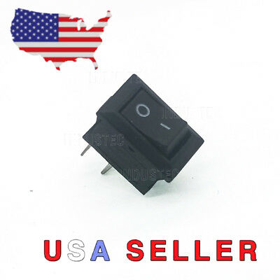Mini 10mm x 15mm On/Off Rocker Switch 2 Pin 12V 3A 110V 6A 250V 3A SPST Boat