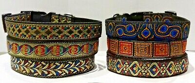 """1"""" Wide Quick Release Goat Collar Small Medium Large Gold Blue Red Green Purple"""