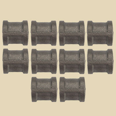 """3/4"""" BLACK MALLEABLE IRON STRAIGHT COUPLING fitting pipe npt coupler Lot of 10"""