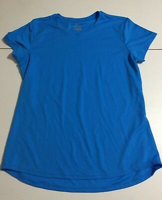 690bdbfe754 Nike Dri-Fit Women s Size Large Blue T-Shirt Athletic Short Sleeve Shirt Top