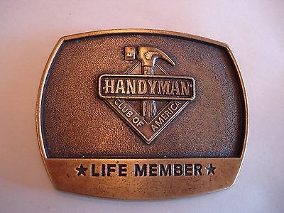 "Vintage Handyman Club of America Belt Buckle, Dated 1996, 3"" x 2 1/2"""
