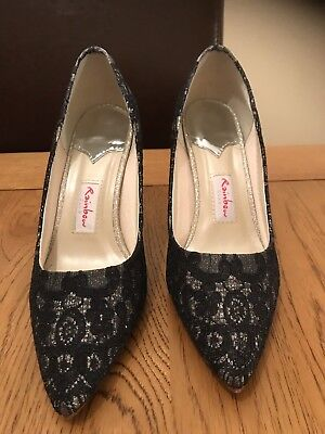 Rainbow Club Giverney Navy Ladies Shoes Size 4.5