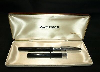 Fountain Pen (Pluma Estilografica) Waterman Plume Or Y Guarda Cartuchos