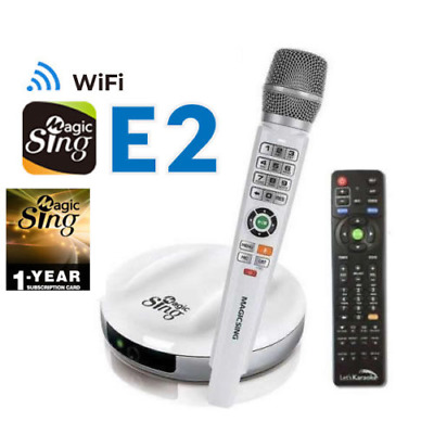 Magic Sing E2 WiFi Wireless Karaoke Mic 12K ENG +12MON 220K TAGALOG & Int'l song