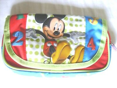 Disney Mickey Mouse ClubHouse red pouch with cover waterproof new