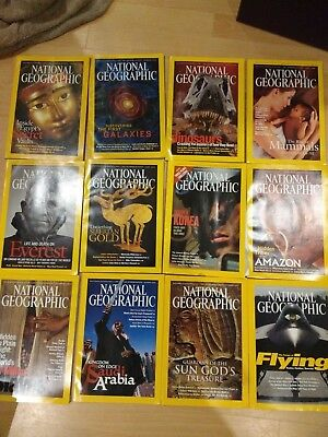 2003 National Geographic magazine bundle 12 issues plus 2 slipcases / holders