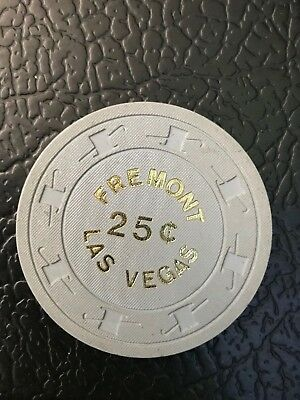 25 cent Fractional Las Vegas Casino Chip  FREMONT $2.99 max shipping