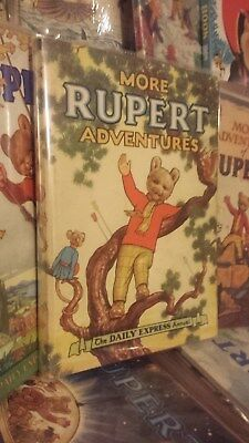 Rupert More Adventures 1952 Fine TBBT clean/not clipped/no erasures or crayoning