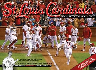2019 St.Louis Cardinals Official Calendar Full Game Schedule Coupons