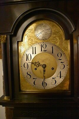 Antique Longcase clock C1890 8 day movement with westminster chimes
