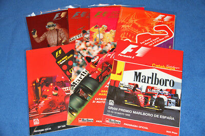 Lot Of 7 Formula 1 Spain Gp Official Programmes - Like New