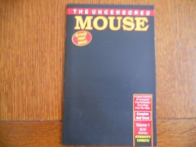 The Uncensored Mouse comic Volume 1 First Issue racy Mickey Mouse from 1930s