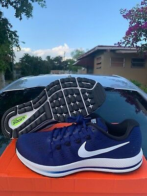 cheap for discount f29d6 4fcb0 Nike Air Zoom Vomero 12 Deep Royal Blue Running Shoes 863762-401 Men's Size  13