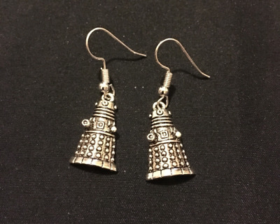 8a10c9141 Silver Plated Dr Who Dalek Earrings Jewellery Gift Time Travel Quirky  Unusual