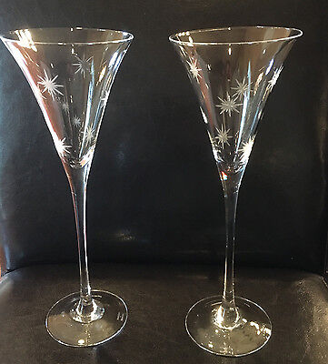 Marquis by Waterford Champagne Flutes Celebration SET/2 New In Box Wedding Gift