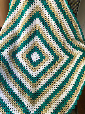 Handmade Crochet  Baby Blanket  Unisex Beautiful GIFT idea