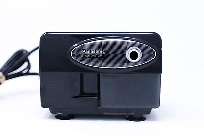 Panasonic Electric Pencil Sharpener KP-310 with Auto-Stop Tested Working Black