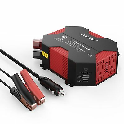 BESTEK 400W Power Inverter DC 12V to AC 110V Car Adapter with 5A 4 USB Charging