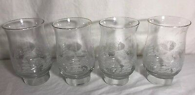 4 Libbey Christmas Winter White Frosted Pine Trees  Glasses  Arby's