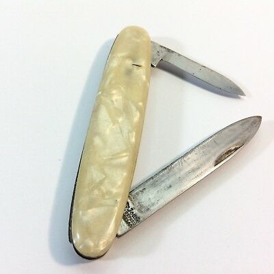 Vintage Jowika Two Blade Folding Pocket Knife Made in Ireland