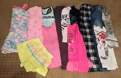 Girls 14 piece clothing lot size 8 Justice Live Nation Rip Curl