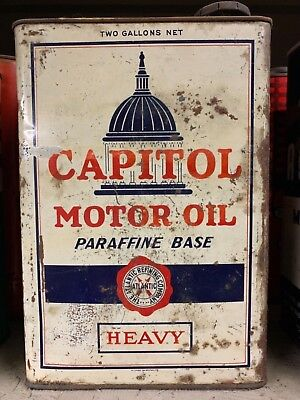 Capitol motor oil can 2 gallon, early highly sought variation