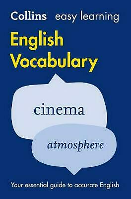 Easy Learning English Vocabulary by Collins Dictionaries Paperback Book Free Shi