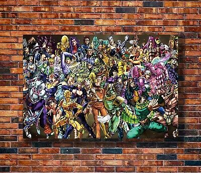 New JoJo's Bizarre Adventure Anime Poster -14x21 24x36 Art Gift X-1413